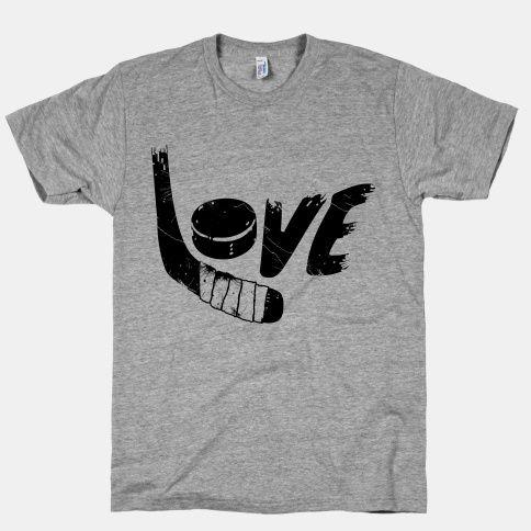 Love Hockey tshirt Hockey on My Body Pinterest