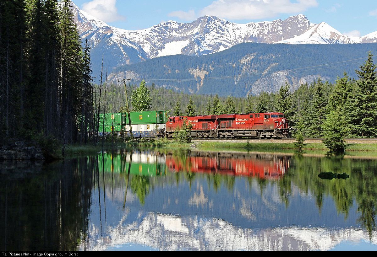 RailPictures.Net Photo: CP 8783 Canadian Pacific Railway GE ES44AC at Field, British Columbia, Canada by Jim Dorst