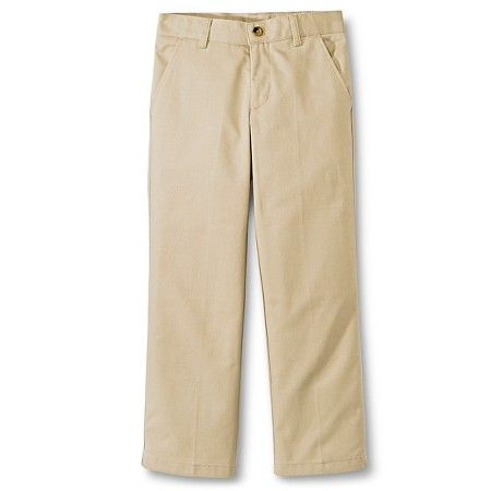 French Toast® Boys' Adjustable Waist Double Knee Flat Front Pant : Target