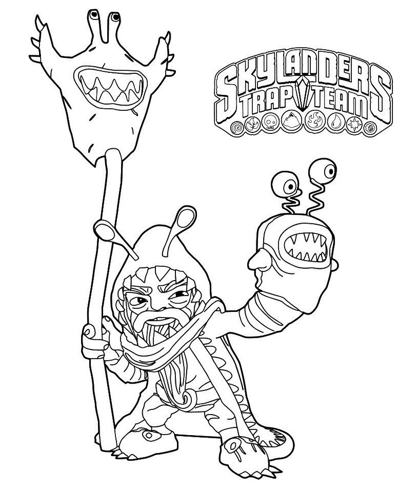 Skylanders Trap Team Coloring Pages To Print | Nickelodeon Coloring ...