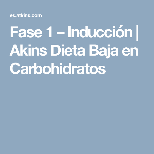Dieta del doctor atkins adelgazar y