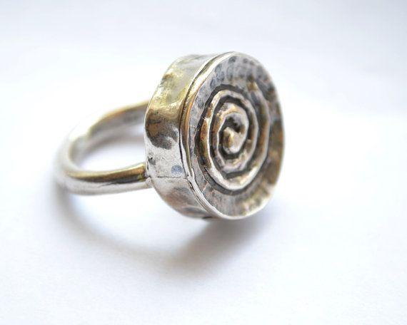 Anello a spirale d'argento gioielli di SmoochyangelsJewelry