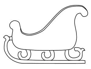 It's just an image of Transformative Free Printable Santa Sleigh Templates