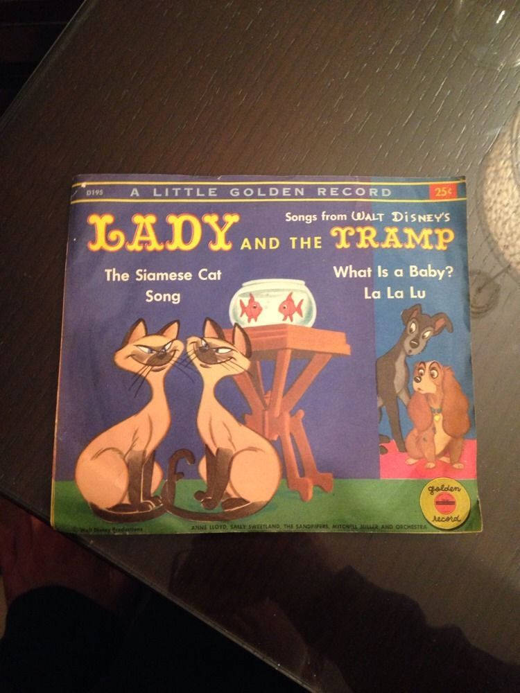 Lyric plastic tramp lyrics : Little Golden Record Disney Lady & The Tramp Siamese Cat Song And ...