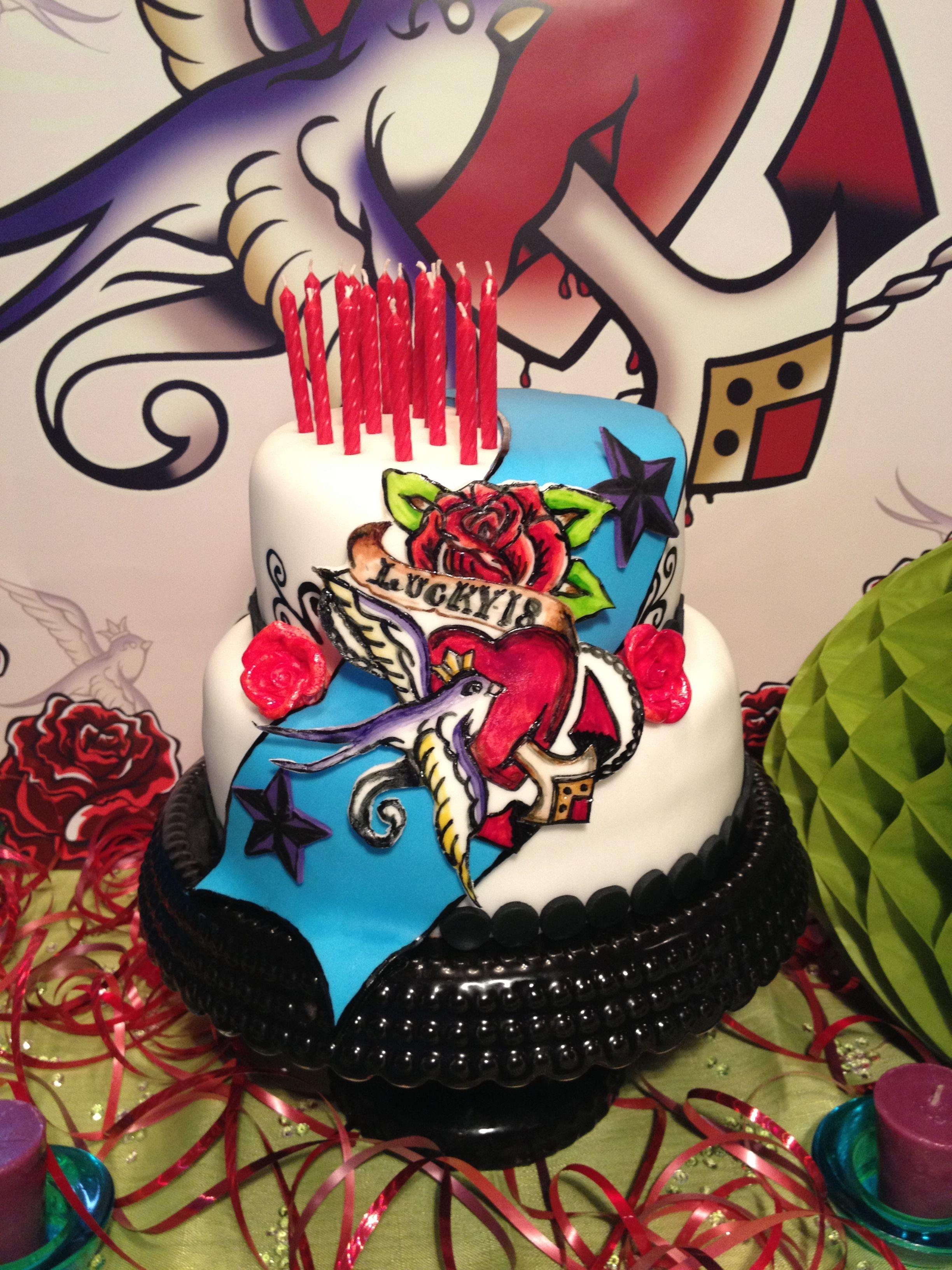 Tattoo Birthday Cake by T.Hawkins