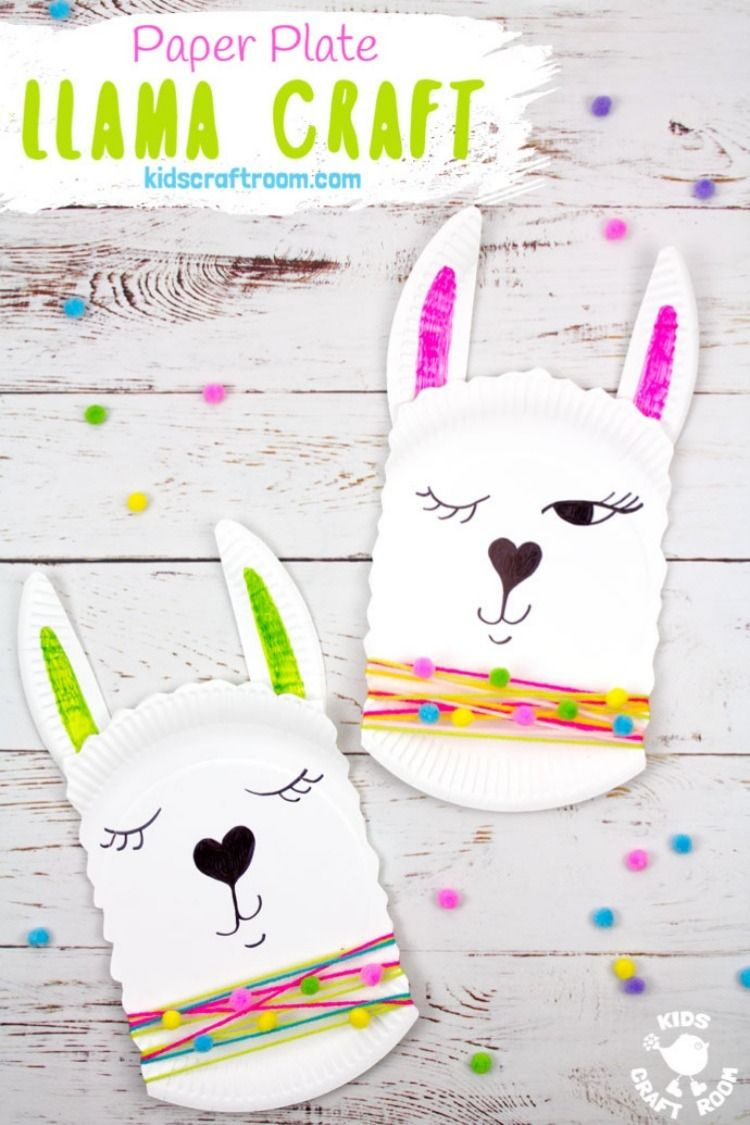 Paper Plate Llama Craft #animalcraftsforkids
