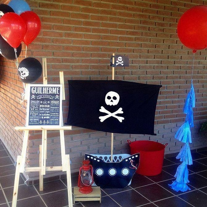 Recepção de festa pirata
