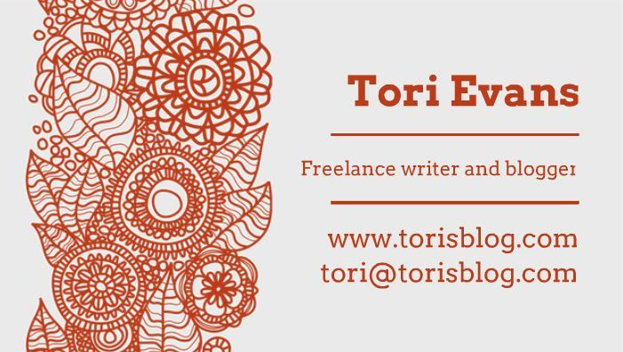 Floral Art Business Card Template - Probably one of my favorite designs!