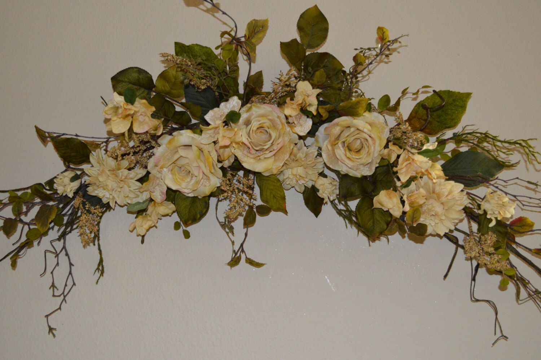 Wedding Arch Swag, Church Swag, Rustic Wedding Swag, Arbor