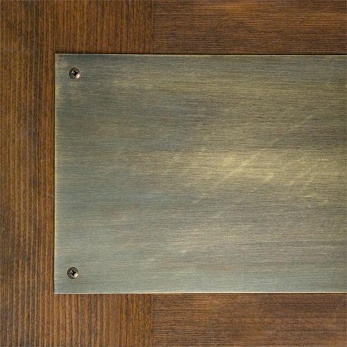 Solid Brass Kick Plate - 8