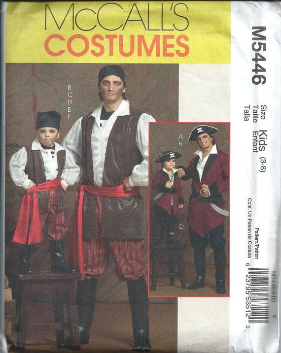 mccalls 5446 kids pirate costume pattern by dawnsdesignboutique 800