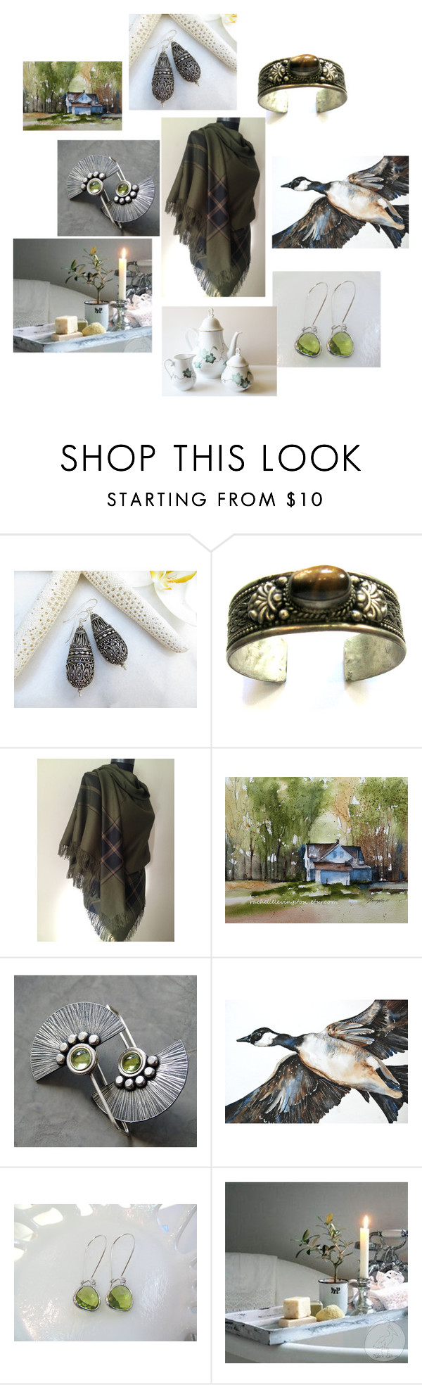 """""""Winter Greens"""" by inspiredbyten ❤ liked on Polyvore"""