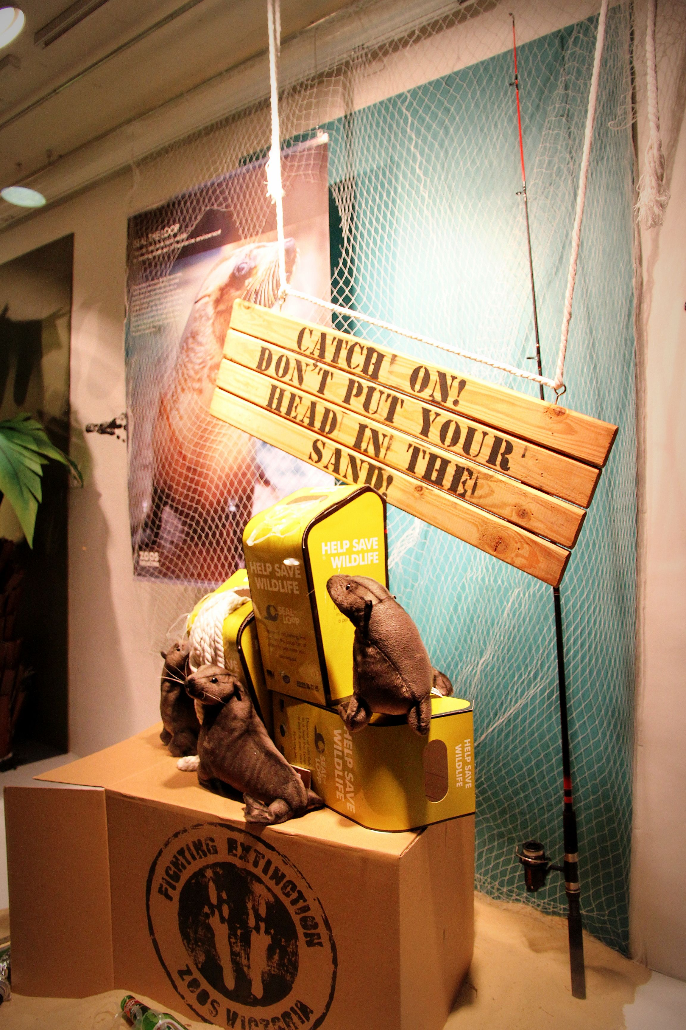 Display For Zoos Victoria By RMIT University Visual Merchandising Students