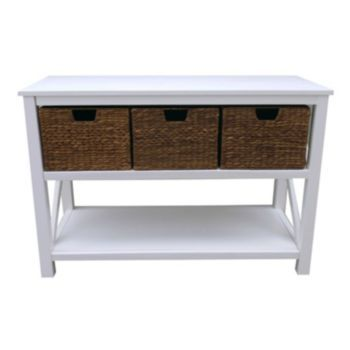 Cameron Console Table Set White
