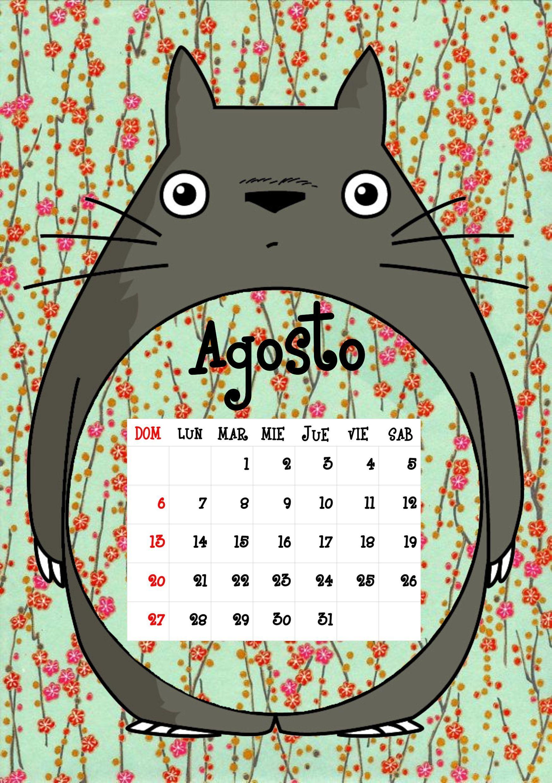 Calendario Totoro Agosto