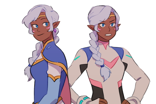 VLD fanart - Allura with an over-the-shoulder braid