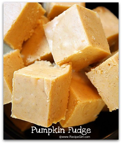 pumpkin fudge! Oh my!