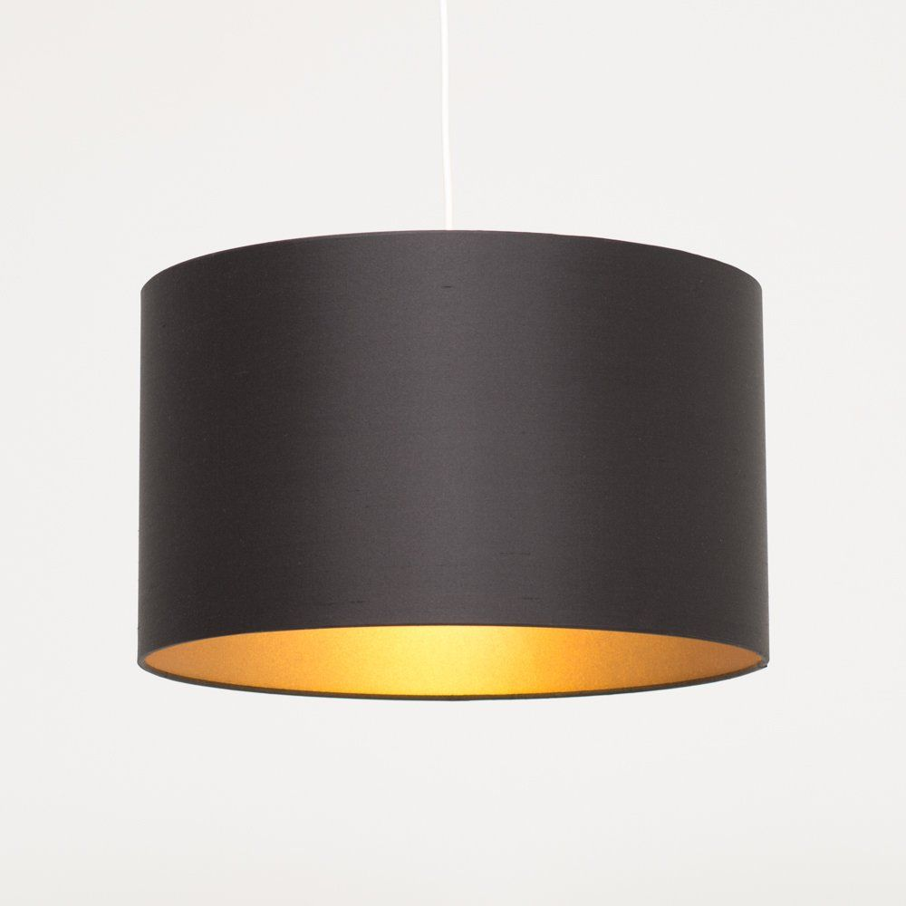 Keep it consistent for this design nautical sense pinterest black silk custom made drum lampshade with gold bronze lining mozeypictures Image collections