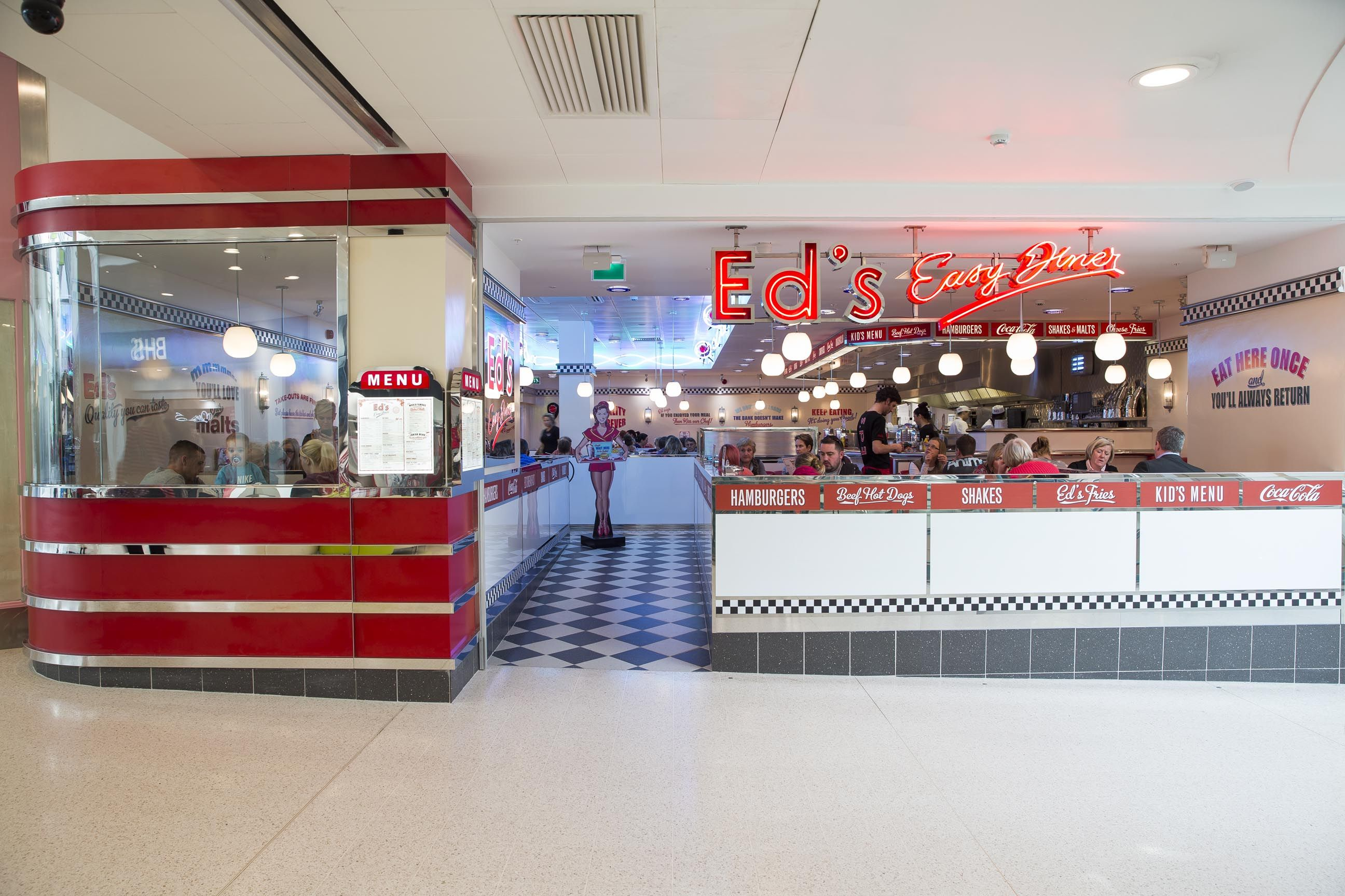 Ed S Easy Diner Watford As The Harlequin Centre This Shopping Mall Has Enjoyed Great Success Over The Years Now Under Easy Diner Ed S Easy Diner Kids Menu