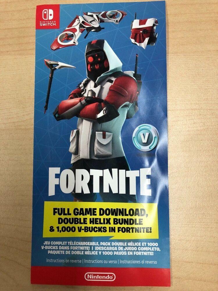 Nintendo Switch Fortnite Double Helix Bundle 1000 V Bucks No Console Code Double Helix Fortnite Helix