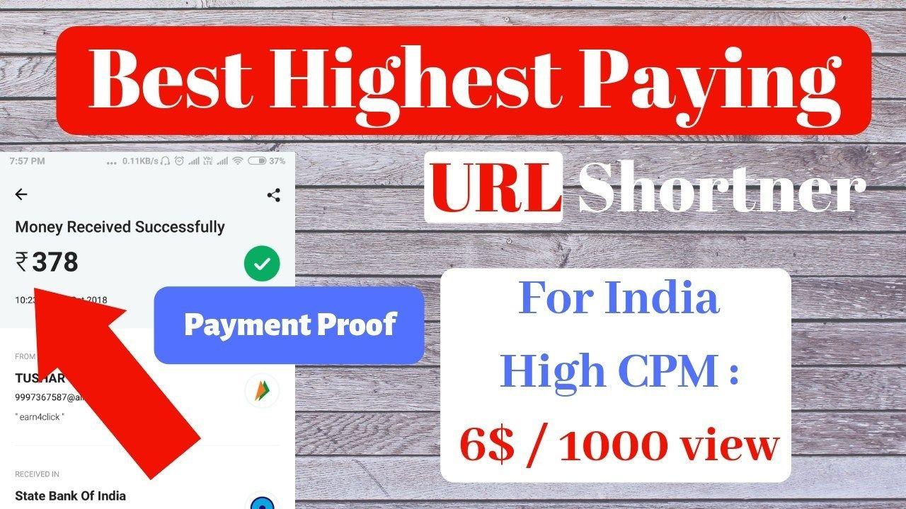 Highest paying URL Shortener    Earn Money Online 2019