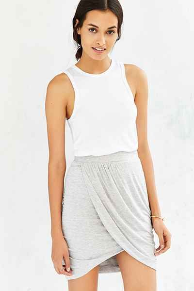 love the drape of this mini skirt from urban outfitters