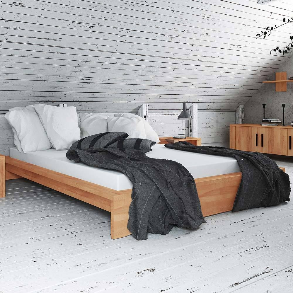 massivholzbett aus kernbuche ge lt ohne kopfteil. Black Bedroom Furniture Sets. Home Design Ideas