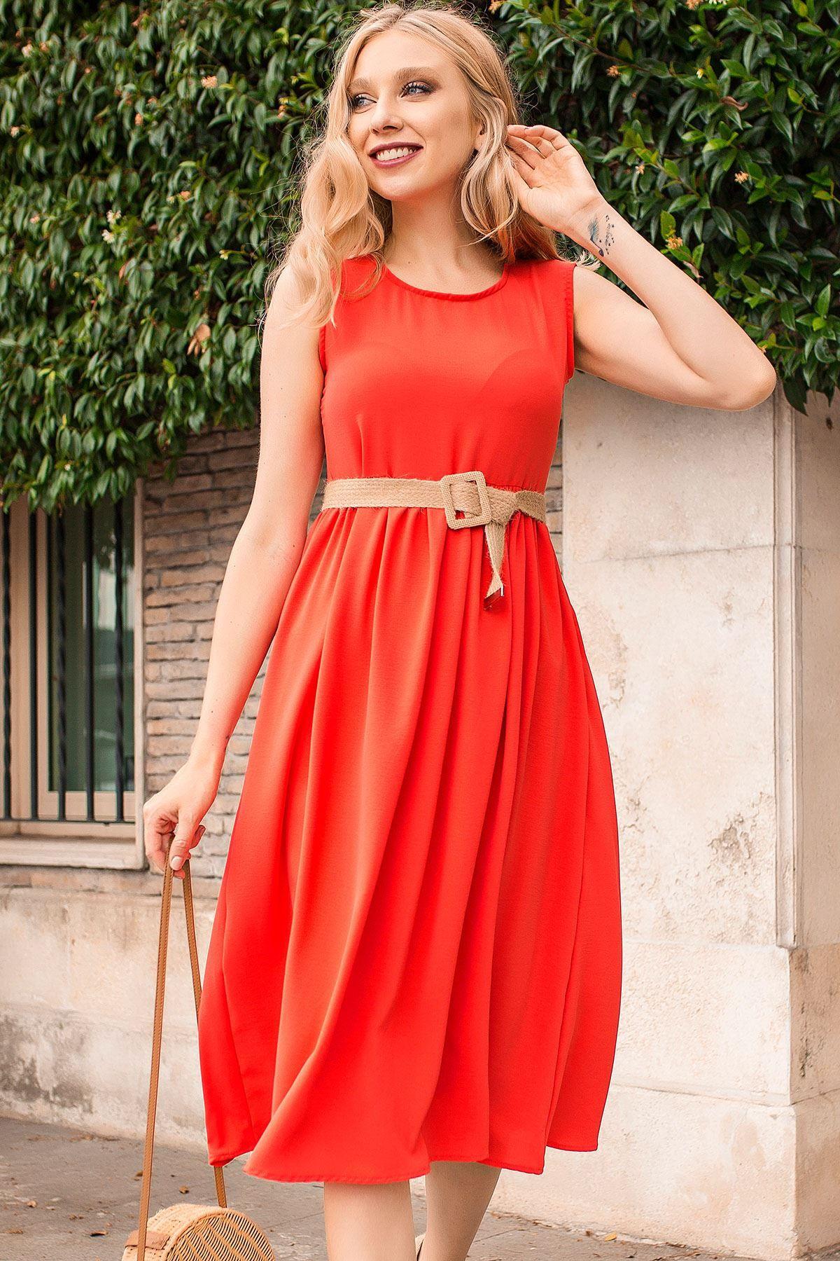 فستان صيفي فضفاض بدون أكمام لون أخضر فاتح Chic Hanim Dresses Fashion Loose Dress