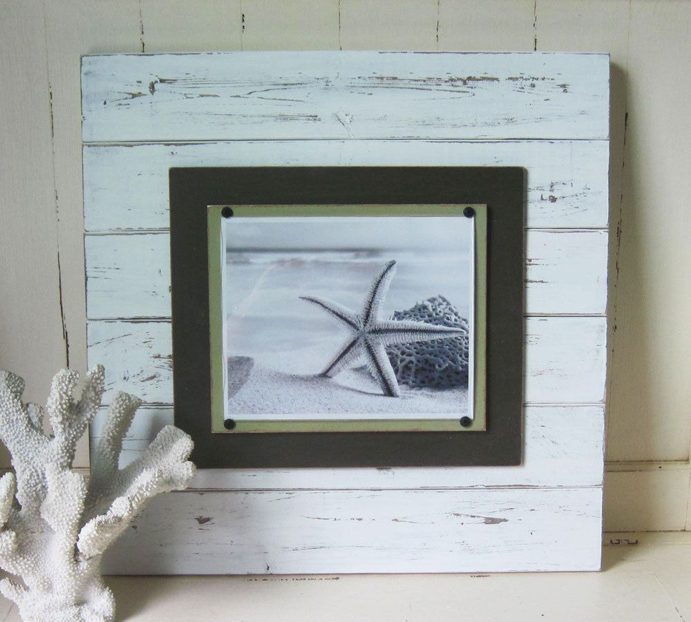X-tra Large White Distressed 21x21 Plank Frame for 8x10 | Large ...