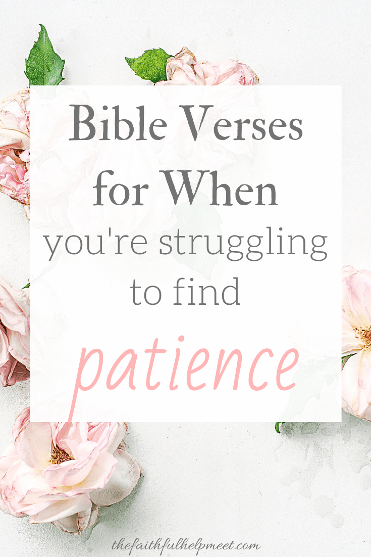 Bible Verses When You're Struggling to Find Patience - The Faithful Help Meet