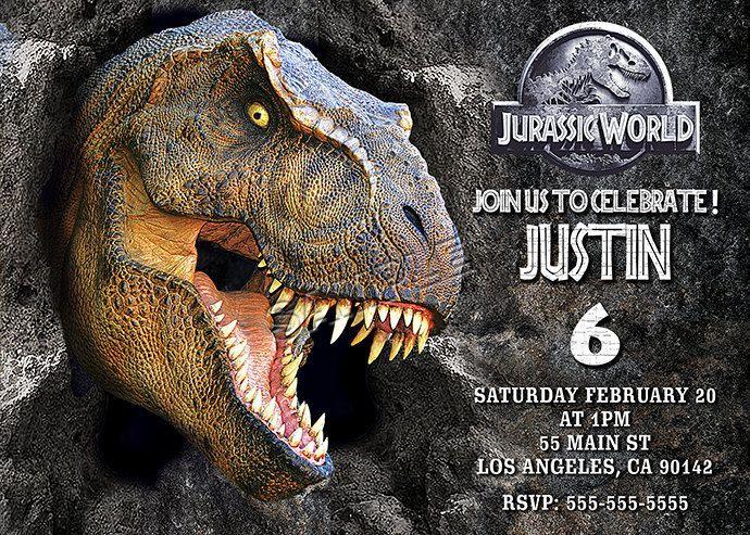 Invitación De Mundo Jurásico Archivo Digital De Mundo