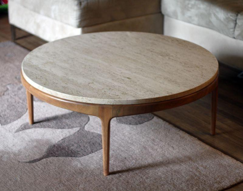 Round Mid Century Coffee Table Zab Living - Round Mid Century Coffee Table CoffeTable