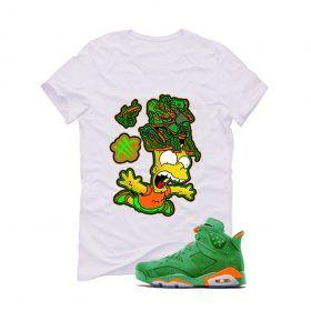 3bc84d224e0 Jordan 6 Gatorade Green White T (Free Fall) in 2019 | T shirts ...
