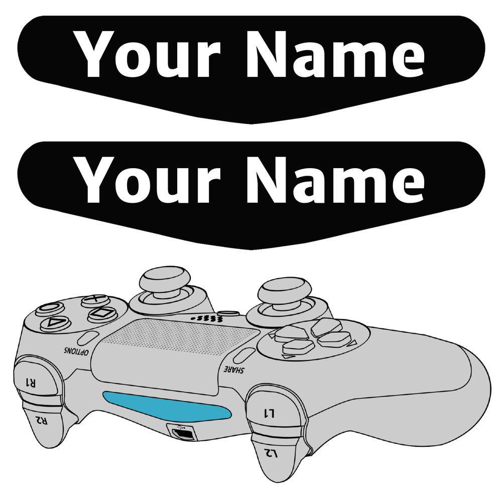 X Playstation PS Controller Light Bar Decal Custom Personalised - Custom vinyl stickers ebay