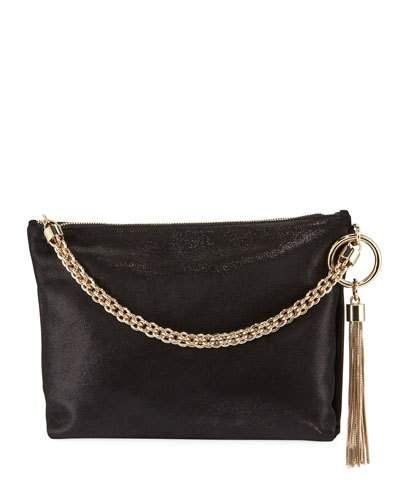 4d469578beb Jimmy Choo Callie Shimmer Suede Shoulder Bag