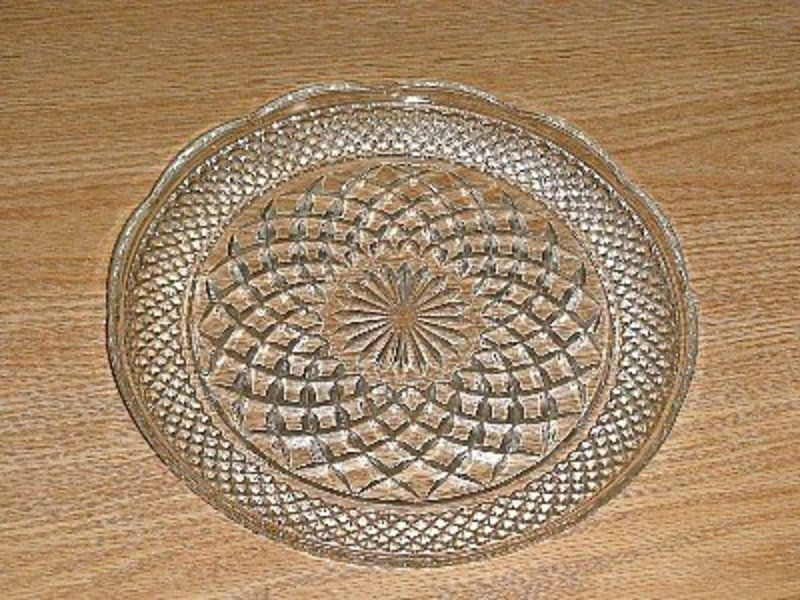 crystal dinnerware | Fire King Wexford Crystal Dinner Plates For Sale | Antiques.com . & crystal dinnerware | Fire King Wexford Crystal Dinner Plates For ...