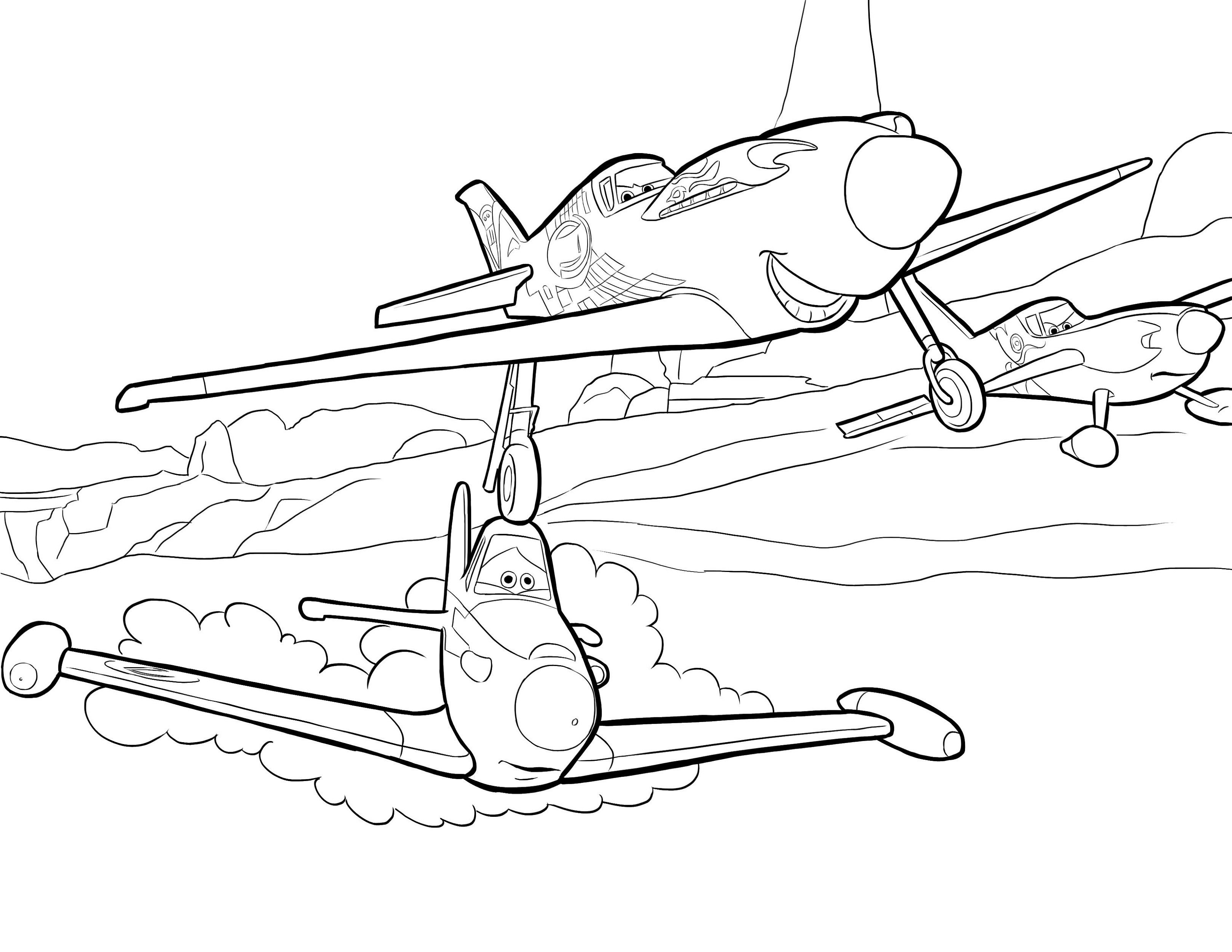 Aeroplanes Colouring Pages