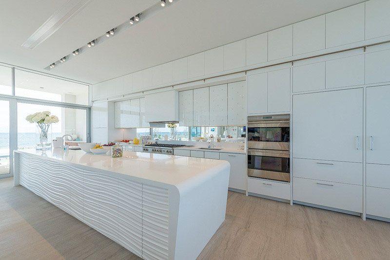 Kitchen Design Idea White Modern And Minimalist Cabinets White Modern Kitchen Modern White Kitchen Island House Design Kitchen