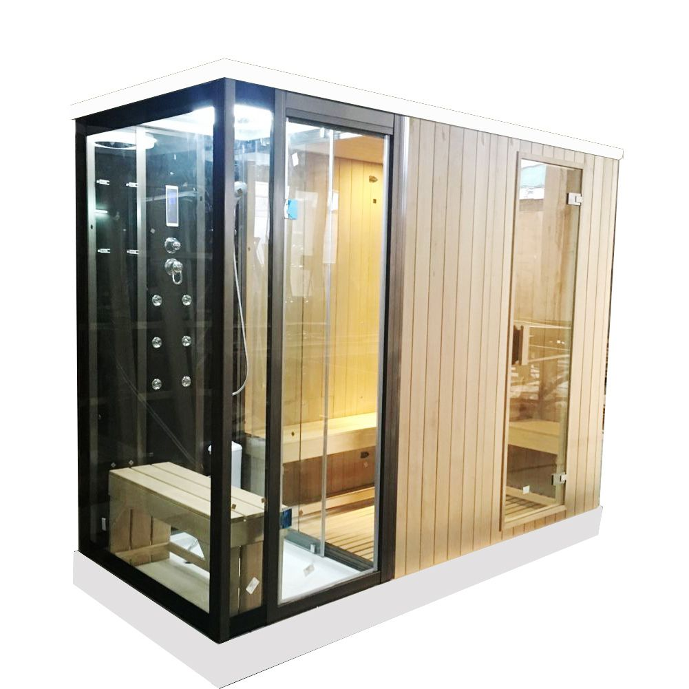 Customized Dry Sauna And Wet Steam Shower Combo Infrared Sauna