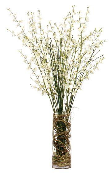 White Orchid Faux Flower Arrangement: #bodenvasedekorieren