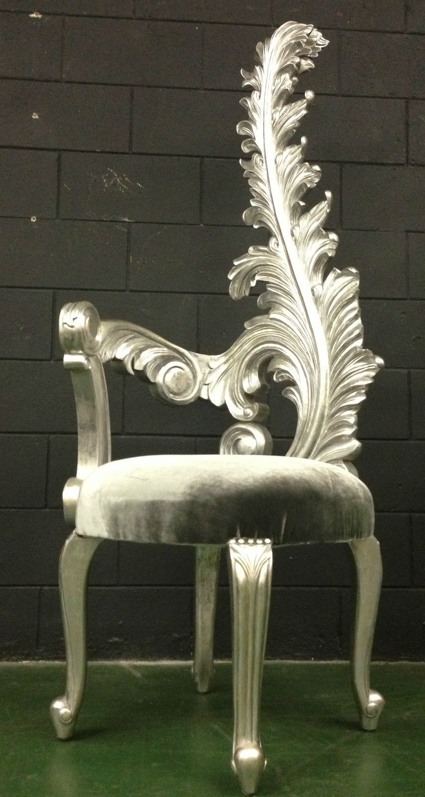 Hollywood Regency silver feather chair.  #bekmode