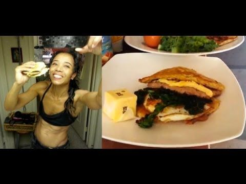 KETOGENIC DIET:  egg/sausage/bread   McMuffin style breakfast by Stephan...