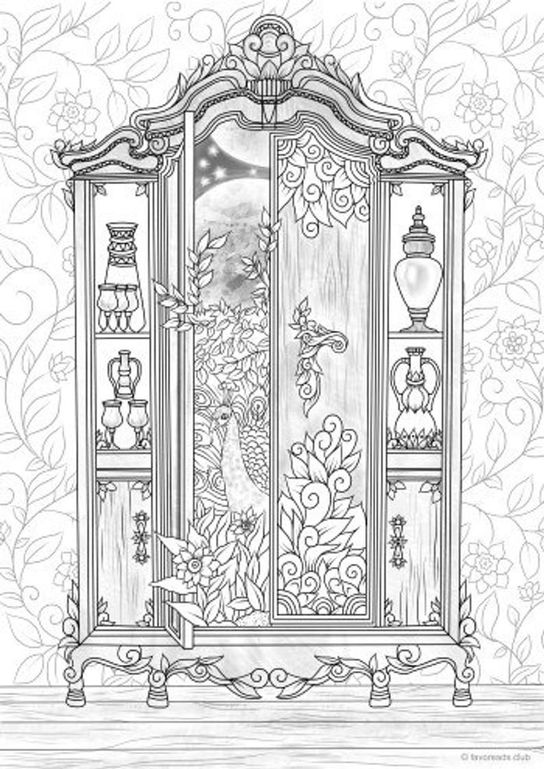 Wardrobe - Printable Adult Coloring Page from Favoreads Coloring book pages for adults and kids Coloring sheets Coloring designs