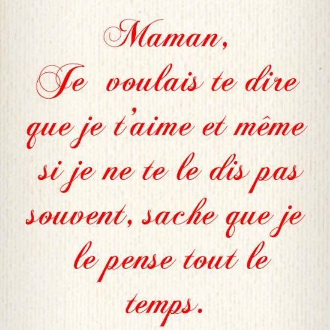 Je T Aime Maman Avec Images Message Pour Maman
