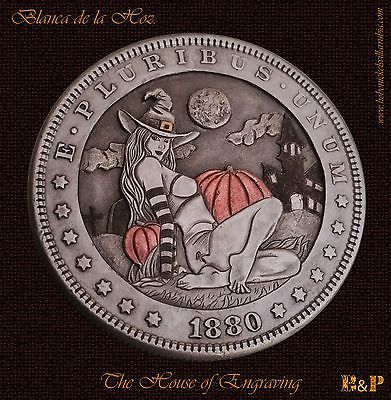 """Witch /""""Hobo Nickel/"""" on Morgan Dollar Coin **"""