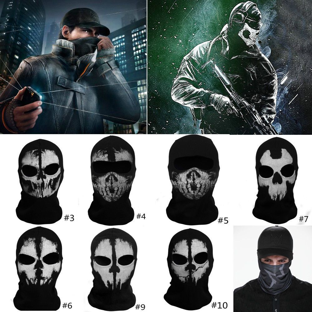 2 Eye Hole Vampire Skull Face Ghost SKI Mask Balaclava Full Hood ...