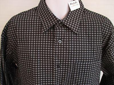 Mens shirts Long Sleeve Black XXL 2XL Button Front MB Studio NWT