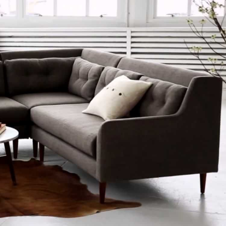 Crosby 2-Piece Chaise Sectional | west elm : crosby sectional - Sectionals, Sofas & Couches