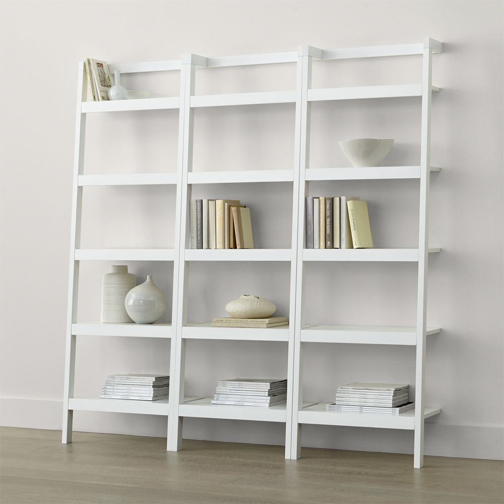 Sawyer White Leaning 24 5 Bookcases Set Of Three Crate And