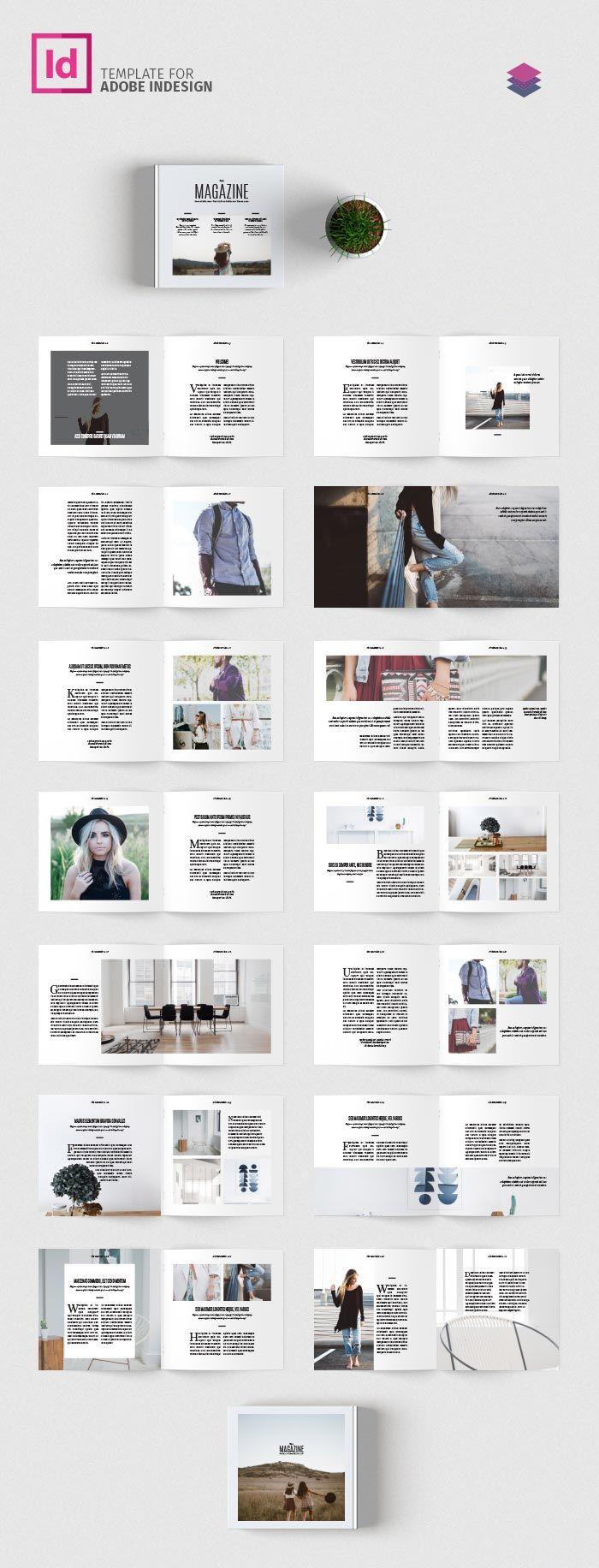 Minimal Square Magazine Template | PAPEL - Maquetación revista ...